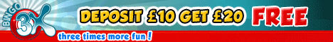 Click here to get 20 FREE at Bingo 3x